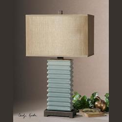 Distressed Blue Lupara 1 Light Table Lamp