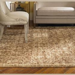 Brown / Beige 6 x 9 Vallata Hand Knotted Hemp Rug
