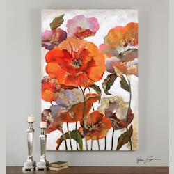 Artwork Reproduction Delightful Poppies Floral Wall Art