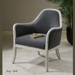 Washed Indigo With Whitewashed Pine Dayla Weathered Detail Accent Chair