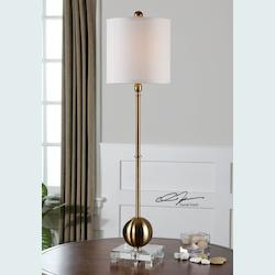 Brushed Brass Laton 1 Light Table Lamp