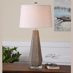 Olive Taupe Pontius 1 Light Table Lamp