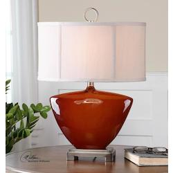 Rust Red Gloss Ceadda 1 Light Table Lamp