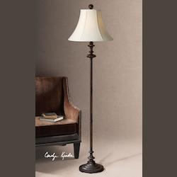 Burnished Brown Single Light Down Lighting Floor Lamp from the Arnett Collection