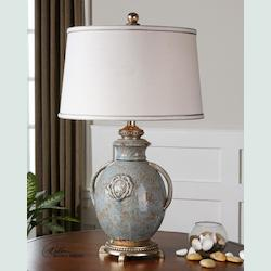 Light Blue Cancello 1 Light Table Lamp