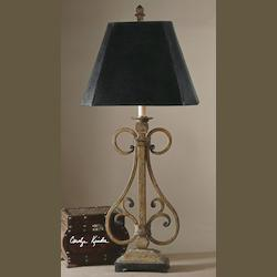 Warm Tan Crackle Trenton Table Lamp