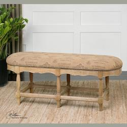 Sanded Cork With Solid Hardwood L'Artiste Armless Wooden Leg Bench