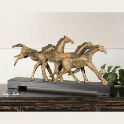 Wild Horses Collection Rustic Sculpture 19452