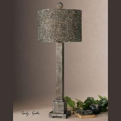 Burnished Bronze / Silver Sedilo 1 Light Table Lamp
