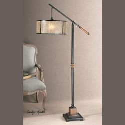 Rustic Mahogany Floor Lamp from the Sitka Collection
