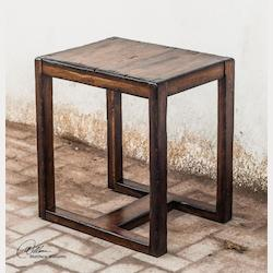 Wood Deni 24in.W Mango Wood Accent Table