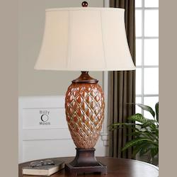 Mottled Rust Brown Pianello Table Lamp