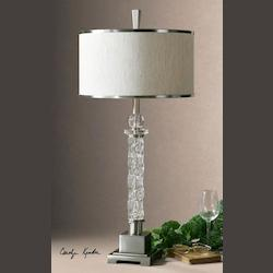 Brushed Aluminum Campania Table Lamp