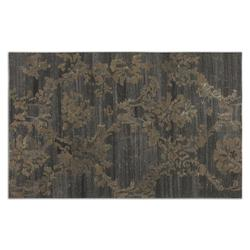 Dark Gray / Rust Beige 5 x 8 Tavenna Low Cut Wool Rug