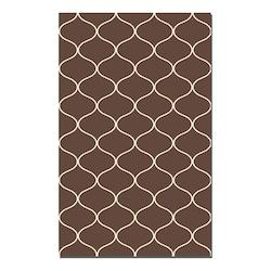 Dark Chocolate 5 x 8 Hamilton Flat Weave Wool Rug