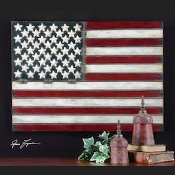 Red, White, and Blue American Flag Wall Art