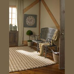 Natural 5 x 8 Bengal Hand Loomed Jute Rug
