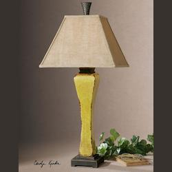 Burnt Yellow Oratino 1 Light Table Lamp