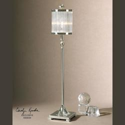 Silver Plated Metal Cordelia Buffet Lamp
