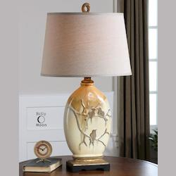 Aged Ivory Pajaro 1 Light Table Lamp