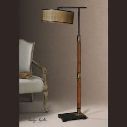Burnished Wood Allendale 1 Light Floor Lamp - 152148