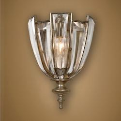 Burnished Silver Champagne Vicentina 1 Light Wall Sconce