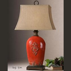 Uttermost Mataline Crackled Red Lamp - 26348