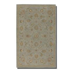 Powder Blue 5 x 8 Torrente Hand Tufted Wool Rug