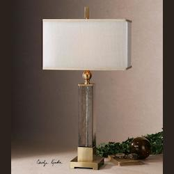 Uttermost Caecilia Amber Glass Table Lamp - 26583-1