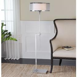 Nickel-Plated Floor Lamp - 152471
