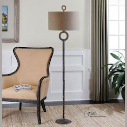 Hammered Aged Rust Bronze Ferro 1 Light Floor Lamp