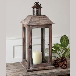 Weathered Wood Denley Candle Holder