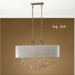 Antiqued Brushed Brass Santina 2 Light Pendant