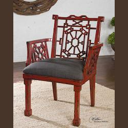 Antique Red And Black Camdon Red Armchair - 152621
