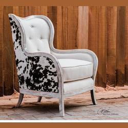 Wood And Linen Chalina Velvet Chair
