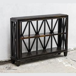Worn Black Mango Wood Asadel Deep Wood Console Table