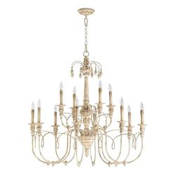 Twelve Light Persian White Up Chandelier