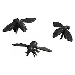 Decorative Bees Bronze Set Of 3