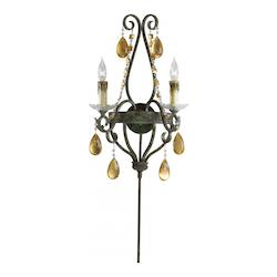 Autumn Dusk 22.5in. Dorato Two Light Wall Sconce from the Decorative Lighting Collection