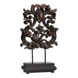 Brown And Verde 29In. European Sculpture