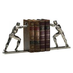 Silver 8.25in. Iron Man Bookends