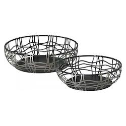 Silver and Bronze 5in. Suzanne Baskets