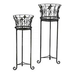 Decorative Filigree Iron Planters