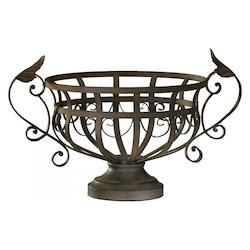 Aged Rust 10in. Iron Fruit Basket