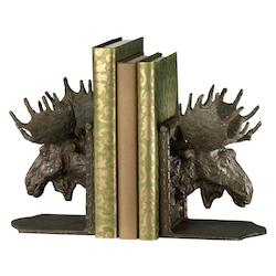 7.45in. Moosehead Bookends