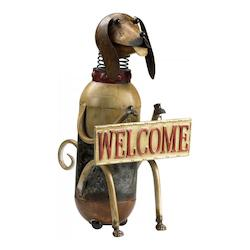 Decorative 21In. Welcome Dog