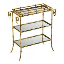 Gold Bamboo Tray Table