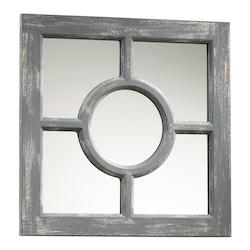 Distressed Gray Ashford Rectangular Mirror