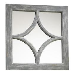 Distressed Gray Ashton Rectangular Mirror