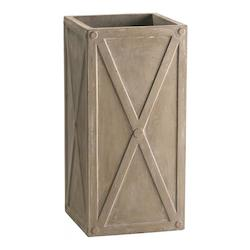 Brown 26.75In. Large Deco Square Planter